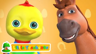 Animal Sound Song | Learn Farm Animals And Names | Nursery Rhymes & Kids Songs by Little Treehouse