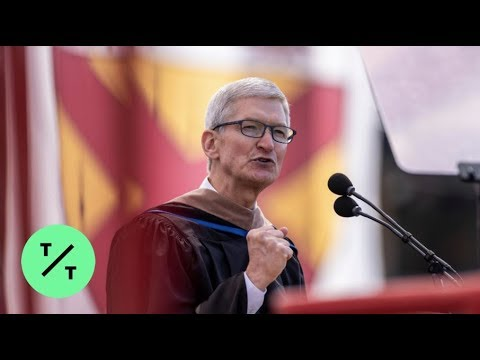 Watch Tim Cook's commencement address to graduates at Stanford