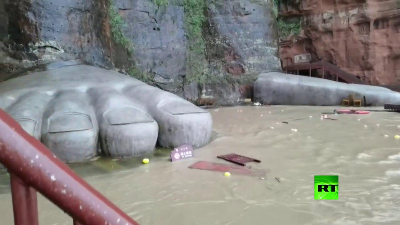 أصابع قدم تمثال بوذا العملاق في خطر
