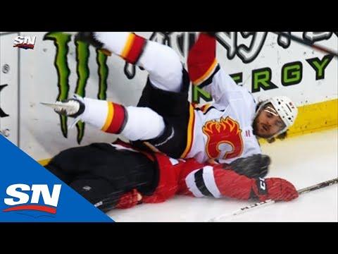Devils' Mirco Mueller Leaves On Stretcher After Crashing Into End Boards