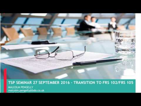 Transition to FRS102/FRS105