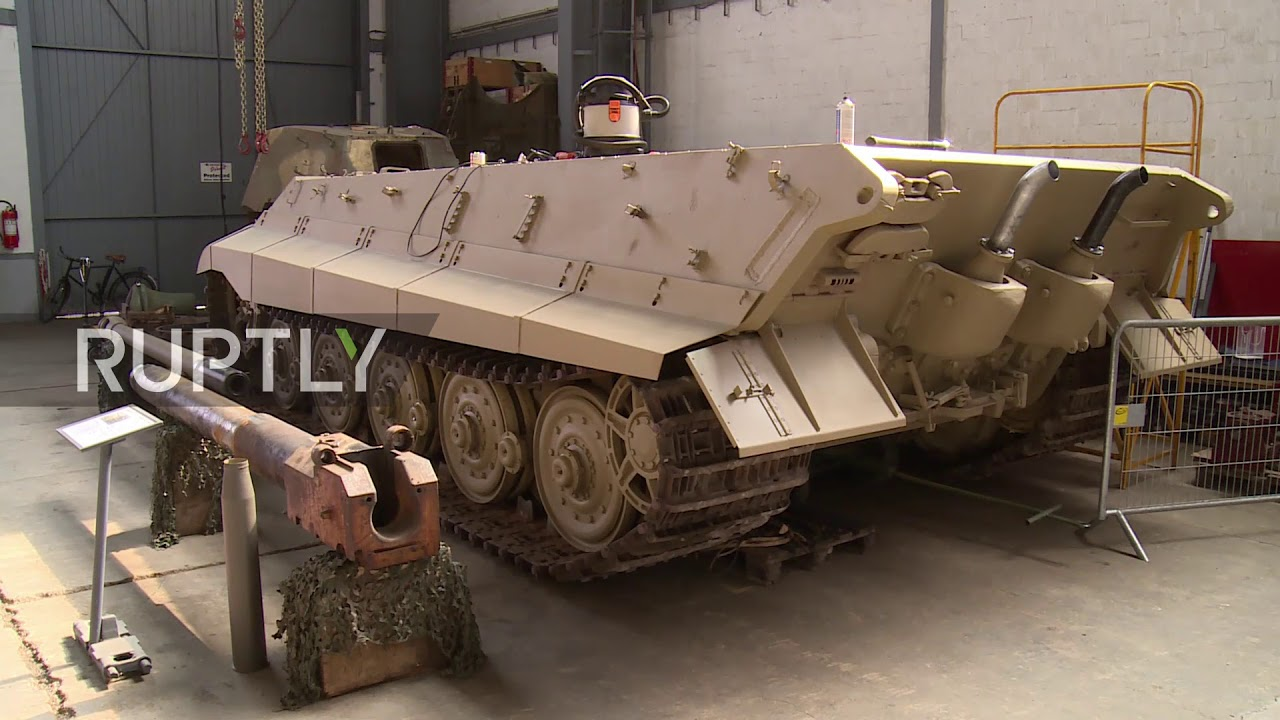 Take a look at this WWII Tiger tank, under decade-long restoration in  Switzerland