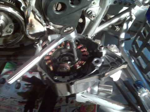 yamaha warrior stator replacement - would not start - YouTube