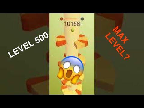 HELIX JUMP--LEVEL 500--MAX LEVEL???
