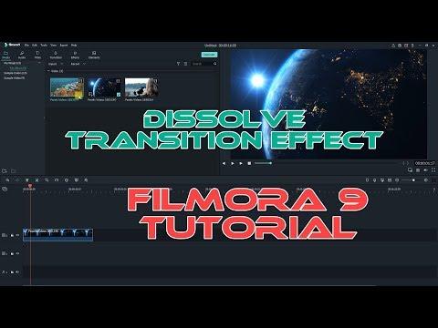 Filmora 9 Dissolve Transition Effect| Tutorial For Beginners