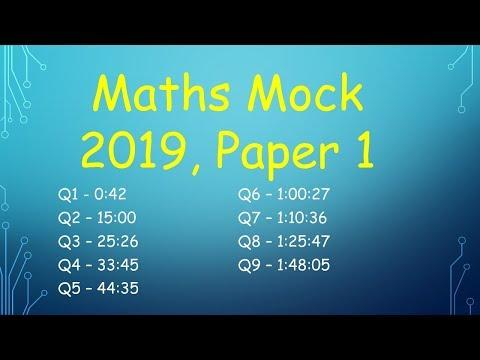 Leaving Cert Higher Level Maths Mock 2019 Paper 1 (DEB)
