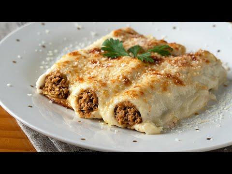Si te encantan los CANELONES esta receta te va gustar - Relleno de carne ORIGINAL