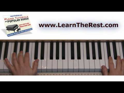 How to Play Poker Face by Lady Gaga on Piano