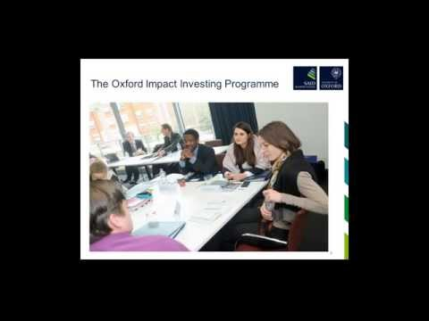 Oxford Insights Webinar Series: What does it take to bring Impact Investing to scale?