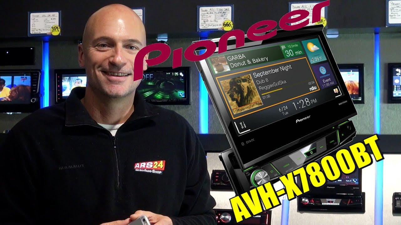 Pioneer Avh X7800bt Ausfahrbares Multimedia Gert Mit App Radio Und P3100dvd Navigation Super Ausstattung Bei Ars24