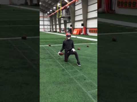 Terrelle Pryor Catching Some Balls