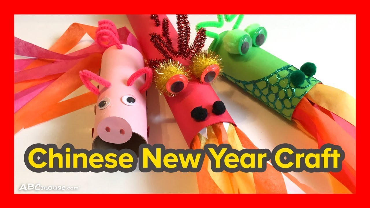 Art Activity For Kids Chinese New Year Craft Youtube