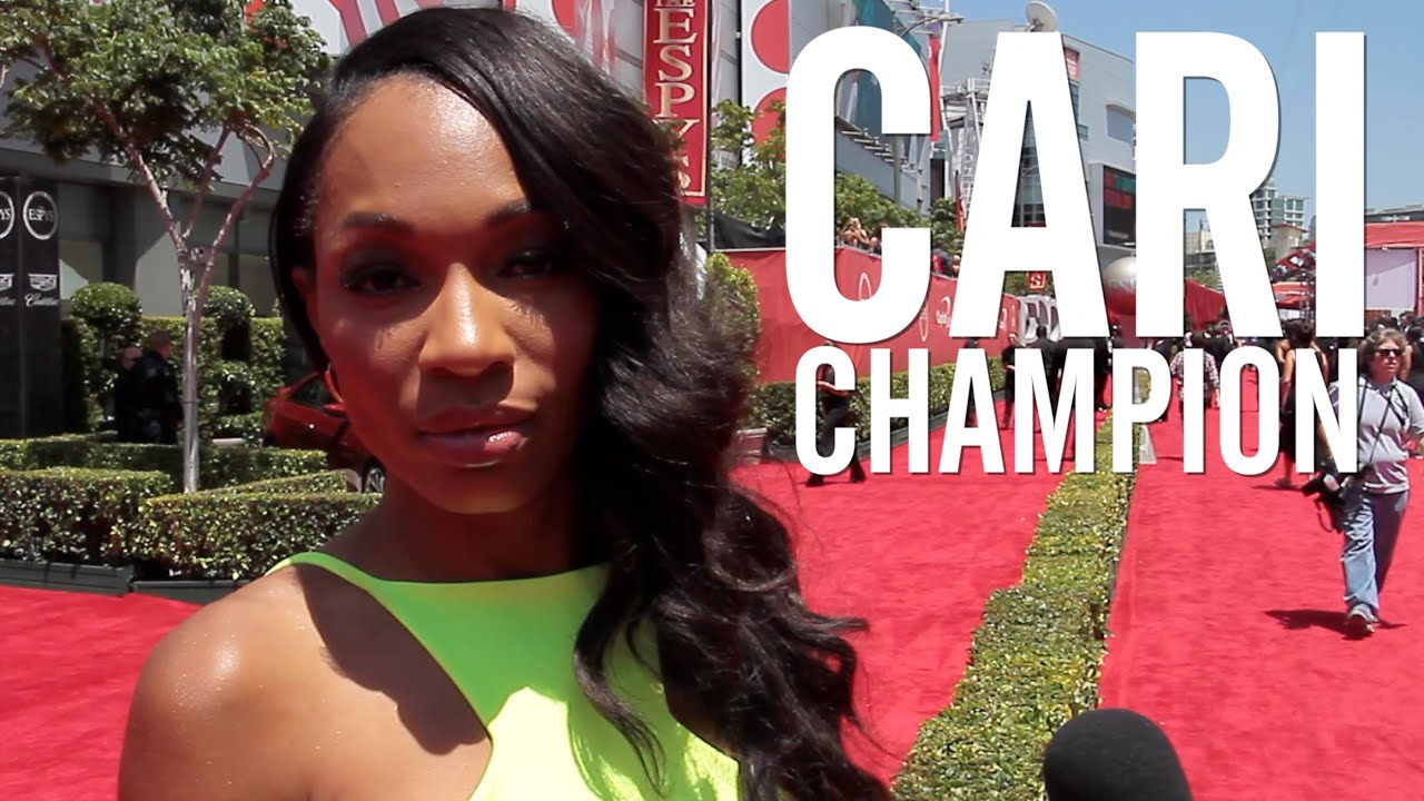 Newest sportscenter anchor cari champion talks caitlyn jenner on the espys red carpet youtube