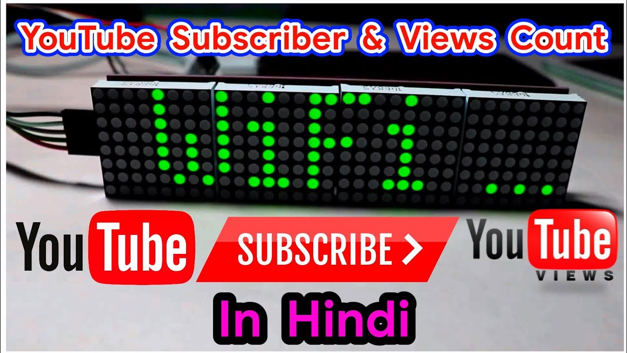 The Live YouTube Subscriber & Views Counter | DIY WiFi YOUTUBE