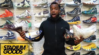 HUGE SNEAKER SHOPPING SPREE AT STADIUM GOODS IN SECRET BACKROOM!