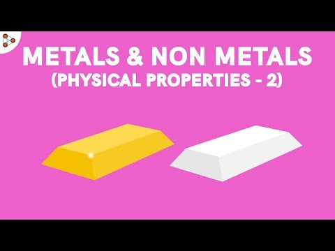 Metals and Nonmetals Physical Properties - Part 2 CBSE 8