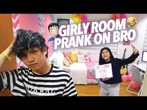Girly Room Prank On Bro! | Ranz and Niana