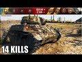 14 ФРАГОВ НА ТАНКЕ Т67 Степи лучший бой T67 World Of Tanks mp3