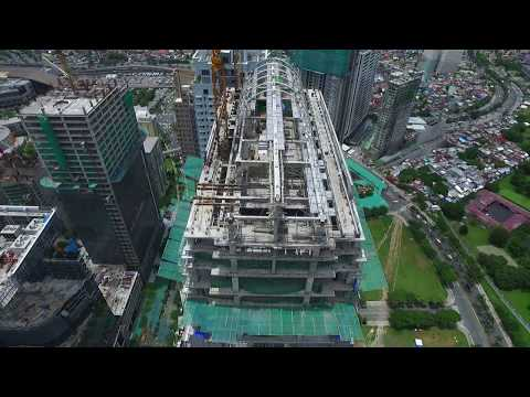 Flyover of The Finance Centre in Taguig City, Philippines