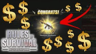 Spending ALL my DIAMONDS! - LUCKY PULLS! - Rules of Survival: Battle Royale