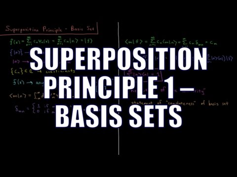Quantum Chemistry 4.10 - Superposition Principle 1: Basis Sets