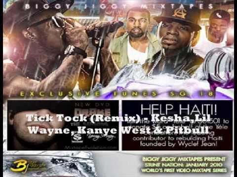 Tick Tock Remix  kesha Feat Lil Wayne, Kanye West & Pitbull