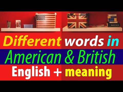 Different words in American & British English with meaning in Hindi Urdu इंग्लिश सीखो