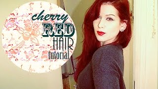 CHERRY RED HAIR TUTORIAL | LAUREN IVRY