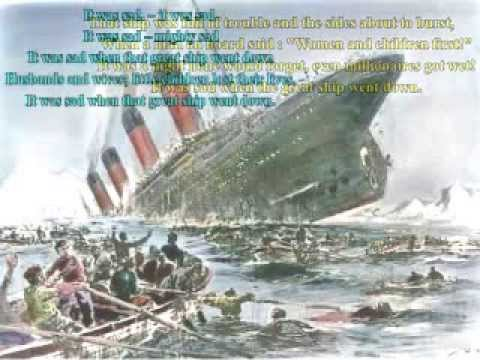 Oh They built the ship Titanic to Sail the Ocean Blue (Lyrics) - Arr P.M.Adamson