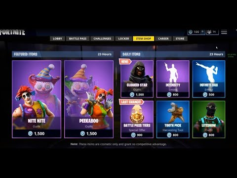 fortnite item shop right now