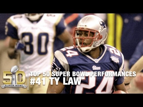 #41: Ty Law Super Bowl XXXVI Highlights | Top 50 Super Bowl Performances