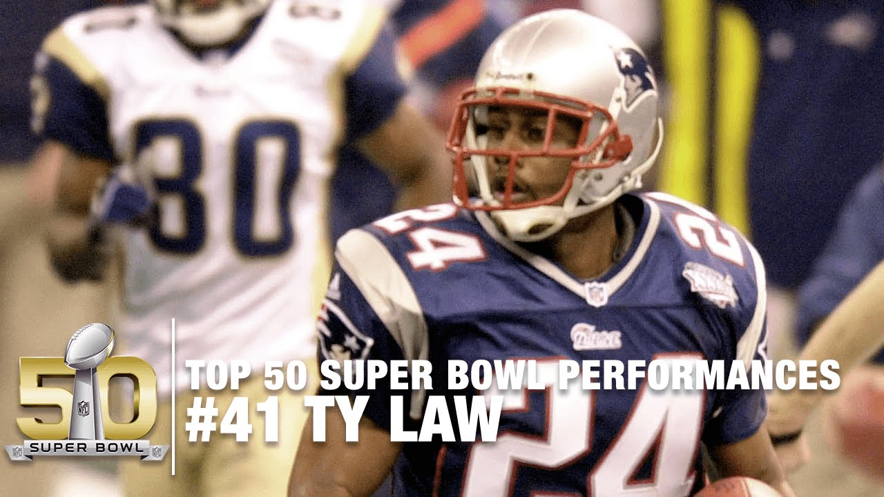41  Ty Law Super Bowl XXXVI Highlights  91d8249be