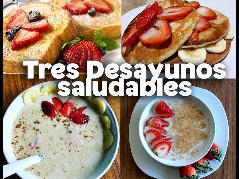 COMO PREPARAR DESAYUNOS SALUDABLES/ 3 RECETAS FITNESS