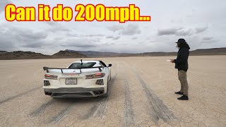 This is the Top Speed of my Corvette C8!