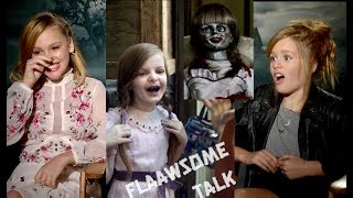 THE REAL HORROR of Annabelle Creation: Talitha Bateman & Lulu Wilson on how scared they were on set