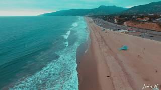 AN AERIAL VIEW OF ZUMA BEACH,MALIBU,CALIFORNIA