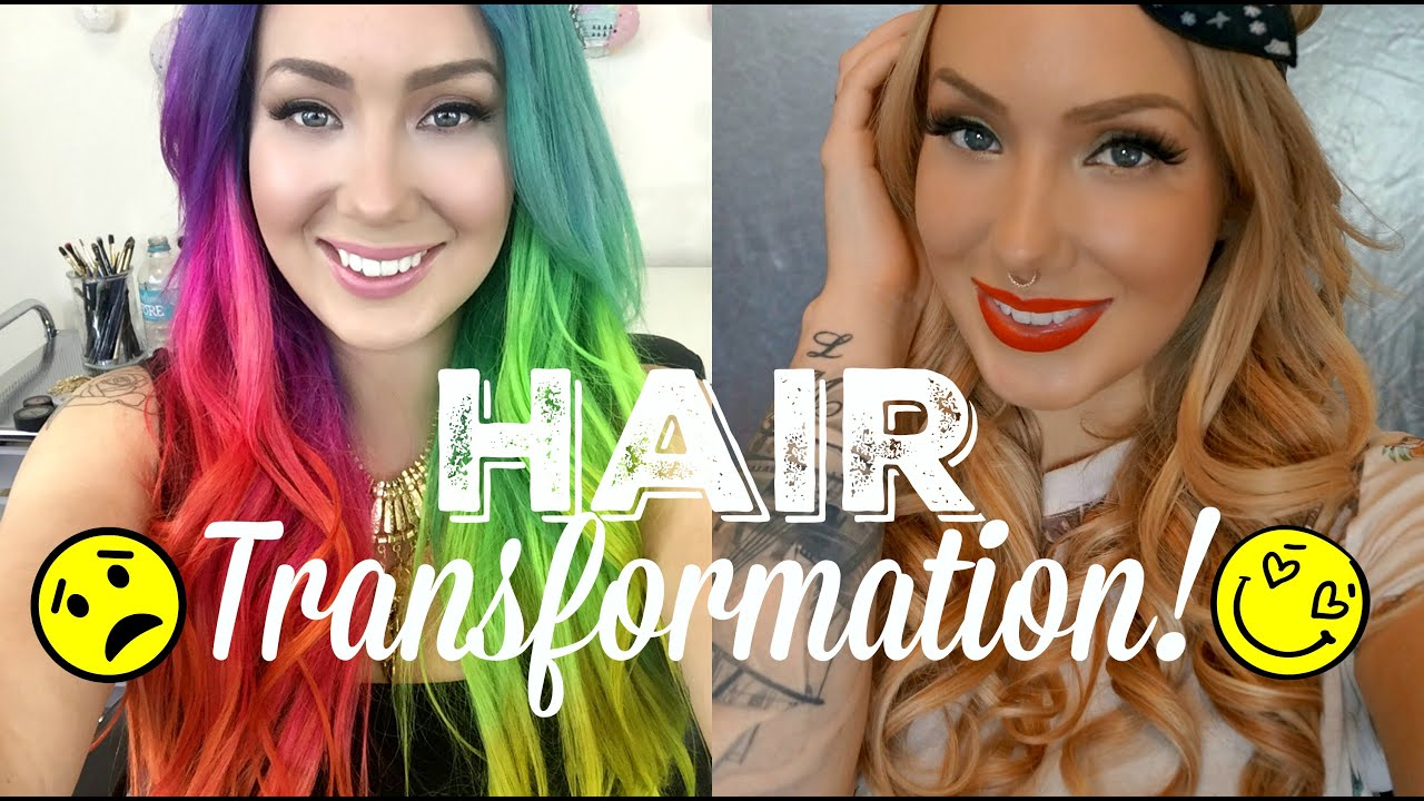 From Crazy Colours To Creamy Caramel Hair Transformation Jade