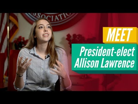 President-Elect Allison Lawrence On Her Upcoming Term