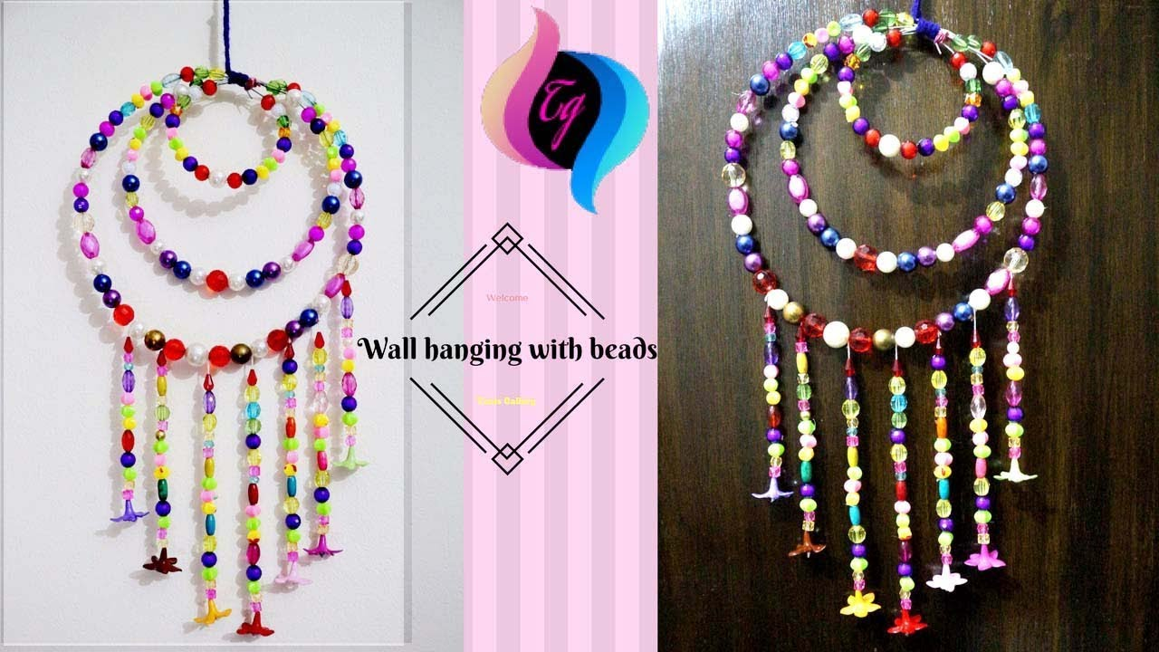 How To Make Wall Hanging With Beads Hanging Beads