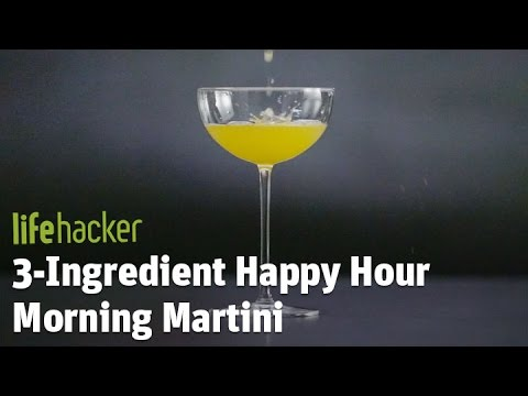 3-Ingredient Happy Hour Morning Martini