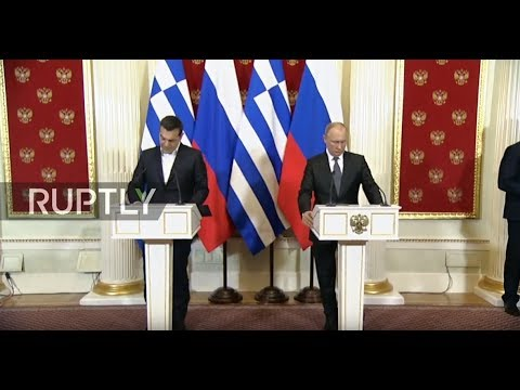 LIVE: Putin and Greek PM Alexis Tsipras hold joint press conference in Moscow