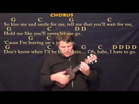 Leaving on a Jet Plane (John Denver) Ukulele Cover Lesson with Chords/Lyrics