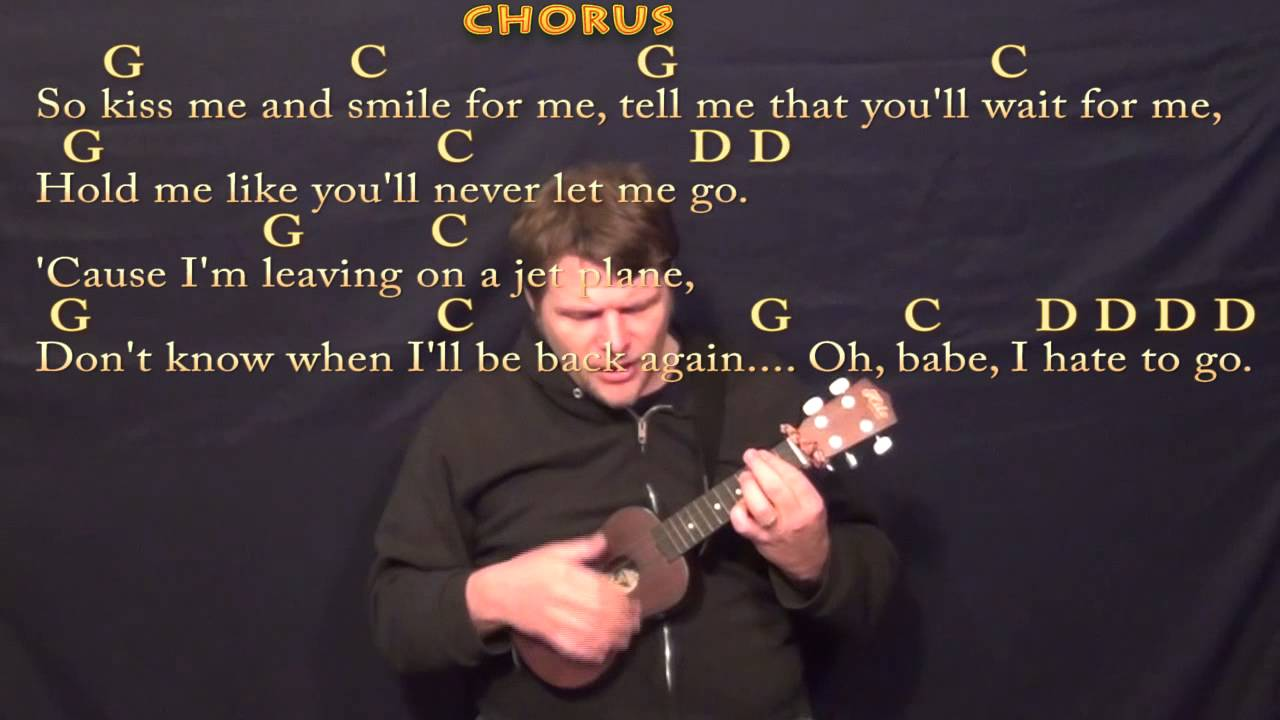 Leaving On A Jet Plane John Denver Ukulele Cover Lesson With
