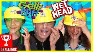 WET HEAD CHALLENGE! WITH GELLI BAFF SLIME! Extreme Liquid Hat Game!  |  KITTIESMAMA