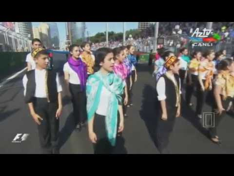 National Anthem of Azerbaijan - opening ceremony of Formula 1 Grand Prix of Europe
