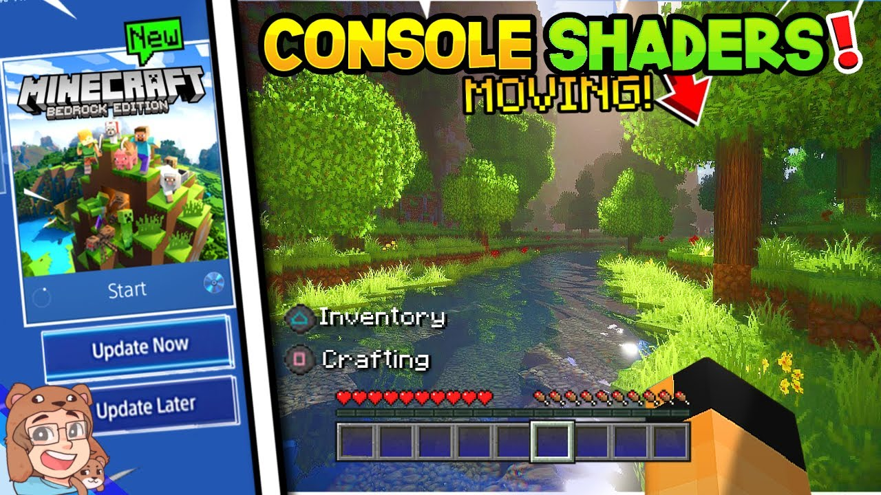 How To Get CONSOLE SHADERS on Minecraft PS4/XBOX Moving Leaves