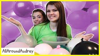 Not My Arms Surprise Balloon Slime Challenge! / AllAroundAudrey