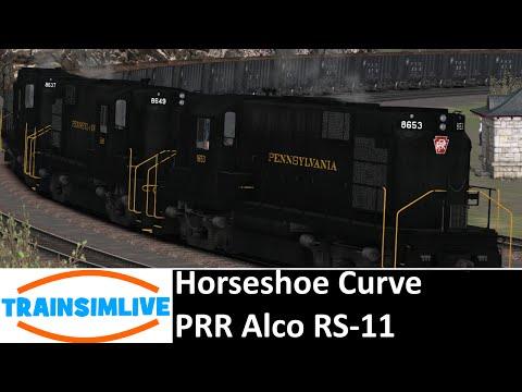 Let's Play Train Simulator 2016 - Horseshoe Curve, PRR Alco RS-11