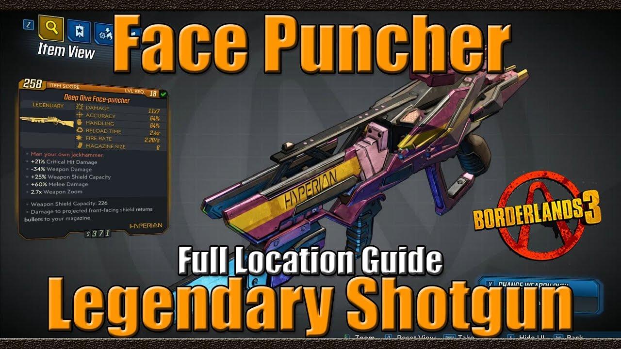 Borderlands 3 | The Face Puncher | Legendary Shotgun | Full Location Guide - YouTube