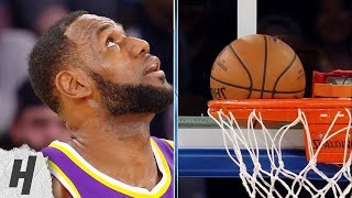LeBron James Scores a Wedgie on 3-Point Shot - Lakers vs Knicks | March 17, 2019
